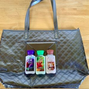 NWT Bath & Body Works Tote w/ Travel Body Lotions